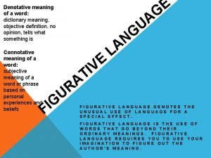 Denotative meaning of a word dictionary meaning objective