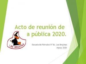 Acto de reunin de cuenta pblica 2020 Escuela