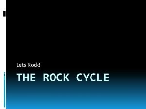 Lets Rock THE ROCK CYCLE 3 Types of
