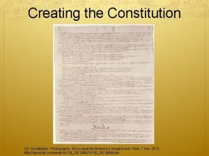 Creating the Constitution US Constitution Photography Encyclopdia Britannica