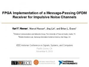 FPGA Implementation of a MessagePassing OFDM Receiver for