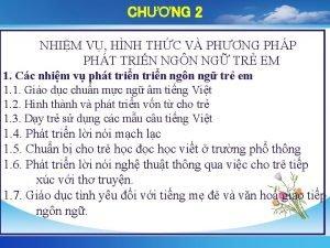 CHNG 2 NHIM V HNH THC V PHNG
