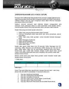 2 PERSIAPAN MAHIR ADVANCED SETUP Persiapan Mahir Advanced