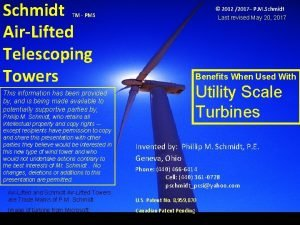 Schmidt AirLifted Telescoping Towers and Confidential Information Proprietary