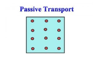 Passive Transport Passive Transport Passive transport Cell spends