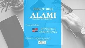 DIRECTORIO ALAMI Mxico D F 16 al 17