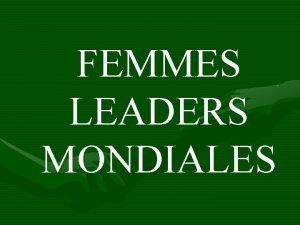 FEMMES LEADERS MONDIALES 18092015 LAssociation a 15 ANS