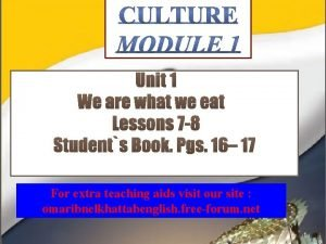 For extra teaching aids visit our site omaribnelkhattabenglish