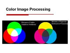 Color Image Processing Color Image Processing Yang hendak