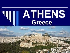 ATHENS Greece The Capital Largest City in Greece