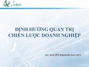 NH HNG QUN TR CHIN LC DOANH NGHIP