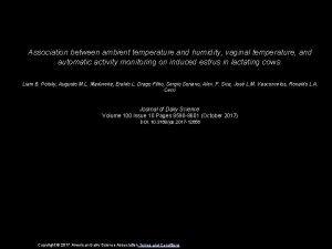 Association between ambient temperature and humidity vaginal temperature