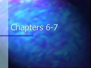 Chapters 6 7 Launching a New Nation n