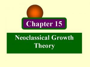 Chapter 15 Neoclassical Growth Theory Introduction Growth theorists