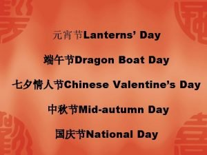 Lanterns Day Dragon Boat Day Chinese Valentines Day