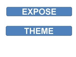 EXPOSE THEME Plan INTRODUCTION HISTORIQUE ISPONSORING 1 Dfinition