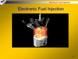 Electronic Fuel Injection 1 Electronic Fuel Injection Karburator