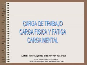 Autor Pedro Ignacio Fernndez de Marcos Autor Pedro
