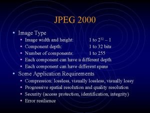 JPEG 2000 Image Type Image width and height