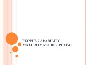 PEOPLE CAPABILITY MATURITY MODEL PCMM INTRODUCTION The People