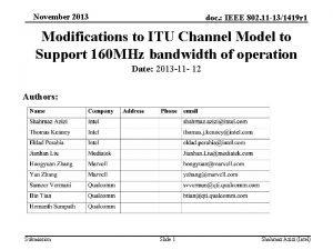 November 2013 doc IEEE 802 11 131419 r