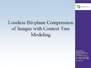Lossless Bitplane Compression of Images with Context Tree