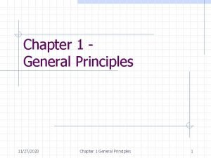 Chapter 1 General Principles 11272020 Chapter 1 General