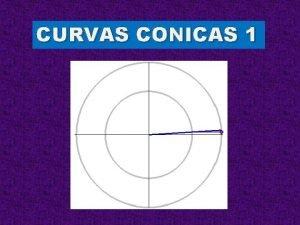 CURVAS CONICAS 1 Curvas Cnicas I Fin de