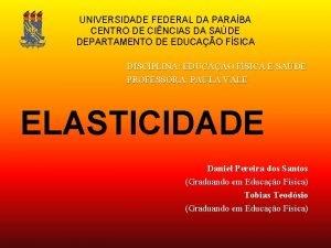 UNIVERSIDADE FEDERAL DA PARABA CENTRO DE CINCIAS DA