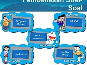 Pembahasan Soal Solekhah M Syafaur Rahmat Desinta Yosopranata