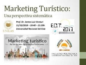 Marketing Turstico Una perspectiva sistemtica Prof Dr James