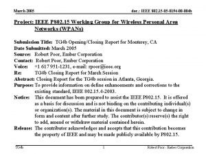 March 2005 doc IEEE 802 15 05 0194