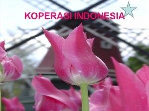 KOPERASI INDONESIA SEJARAH KOPERASI Bermula dari terjadinya Revolusi