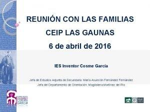 REUNIN CON LAS FAMILIAS CEIP LAS GAUNAS 6