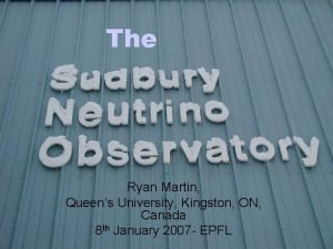 The Ryan Martin Queens University Kingston ON Canada
