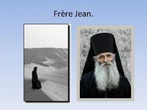 Frre Jean Frre Jean La rsurrection nest pas