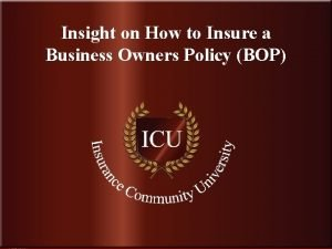 Insight on How to Insure a Business Owners