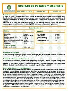 SULFATO DE POTASIO Y MAGNESIO FICHA TECNICA SulPoMag00
