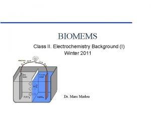 BIOMEMS Class II Electrochemistry Background I Winter 2011