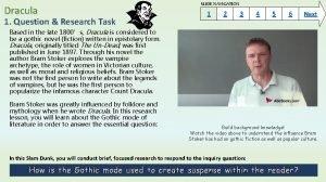 Dracula 1 Question Research Task SLIDE NAVIGATION 1