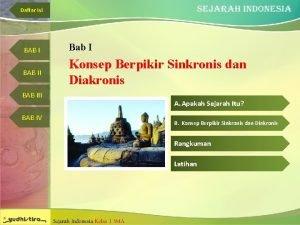Daftar Isi BAB I Bab I BAB II