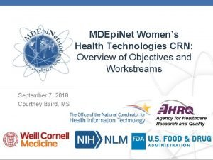 MDEpi Net Womens Health Technologies CRN Overview of