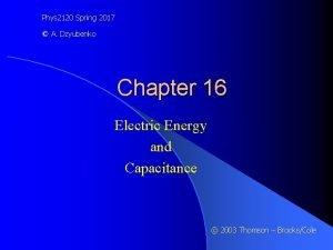 Phys 2120 Spring 2017 A Dzyubenko Chapter 16
