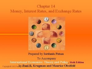Chapter 14 Money Interest Rates and Exchange Rates