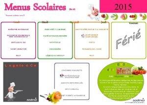 Menus Scolaires 2015 Bio M Vacances scolaires zone
