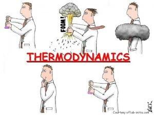 THERMODYNAMICS Courtesy of labinitio com Definitions 1 Energy