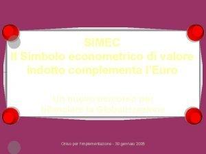 SIMEC Il Simbolo econometrico di valore indotto complementa