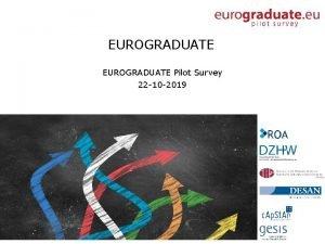 EUROGRADUATE Pilot Survey 22 10 2019 EUROGRADUATE Pilot