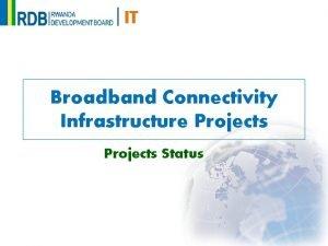 IT Broadband Connectivity Infrastructure Projects Status IT Rwanda