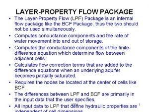 LAYERPROPERTY FLOW PACKAGE The LayerProperty Flow LPF Package